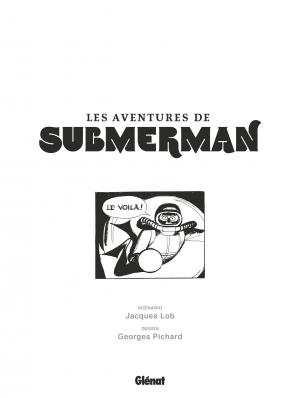 Les aventures de Submerman   simple (glénat bd) photo 4