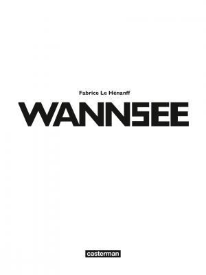 Wannsee   simple (casterman bd) photo 4