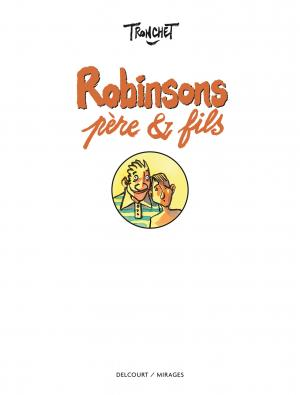 Robinsons, père & fils   simple (Delcourt BD) photo 1